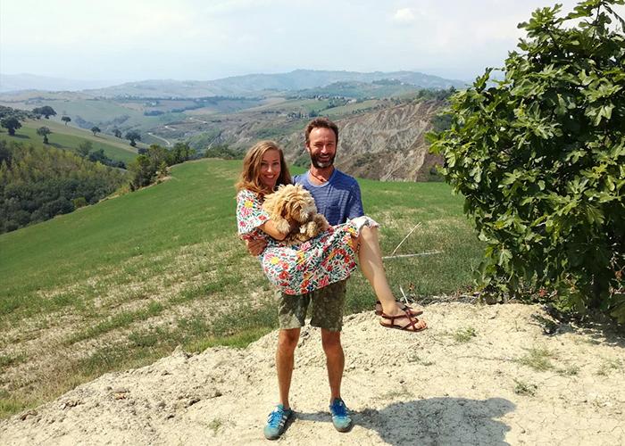 Sudeva and Ingrid at Casa Amrita, Yoga B&B, Italy, Abruzzo