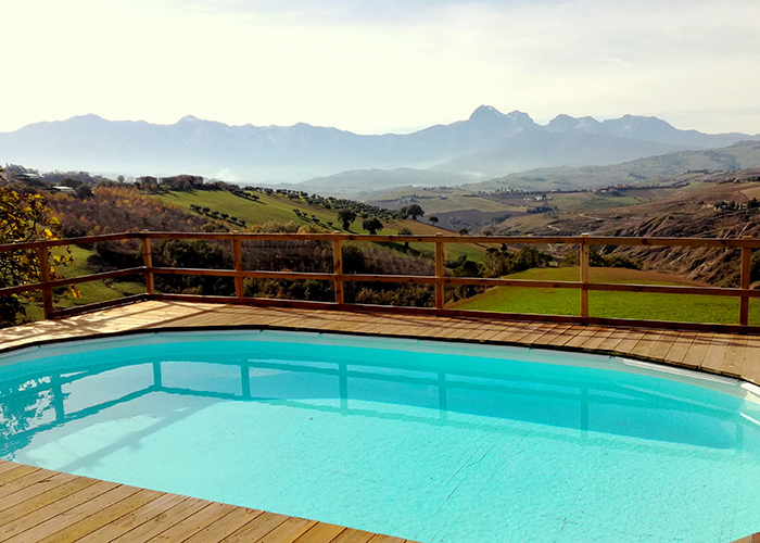 Swimming pool at Casa Amrita, Yoga B&B, Italy, Abruzzo